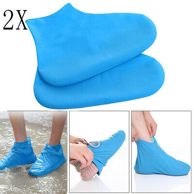 2X Unisex Shoe Covers Rainy Day Shoes Protection Silicone Shoe Cover Outdoor