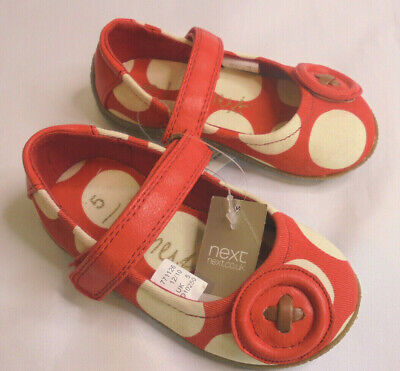 Next Girls Shoes Toddler Size 5 Red Spot BNWT        3/32