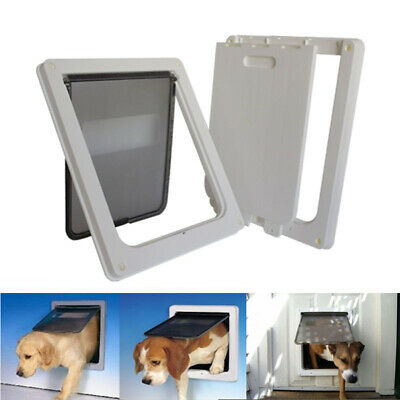 Extra Large ABS Plastic Pet Cat Dog Lockable Security Flap Door Gate Frame