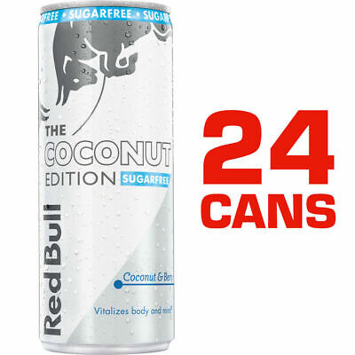 Red Bull Sugar Free Sports RedBull Energy Drink 24 x 250ml Cans Coconut & Berry
