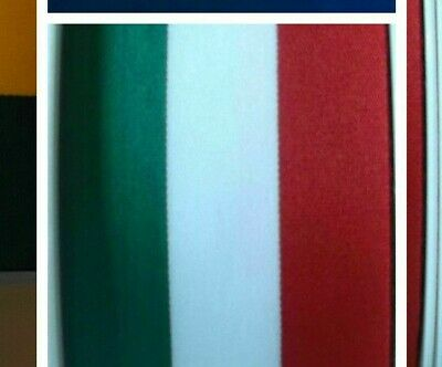 Green White & Red Flag Ribbon Italy Ribbon Sold By the Metre 15mm  25mm 40mm