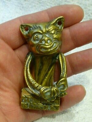 Antique Small Cottage Size Door Knocker Grotesque Dog/Cat  Architectural Fitting