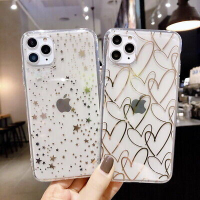 Glitter Star Soft Silicone Hybrid Clear Case Cover For iPhone 11 Pro Max XR XS X