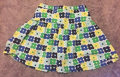 Girls Gymboree Floral Green Blue Yellow Skirt Built In Shorts Size 10 Flowers