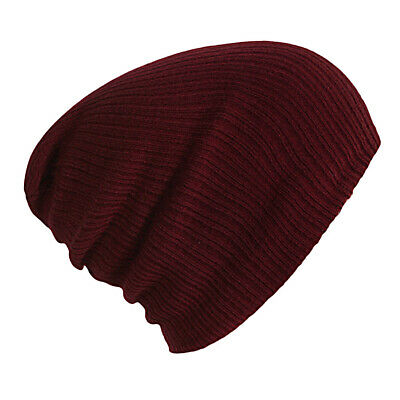 Knitted Red Men Women Beanie Hat Ears Cap Winter Warm Thermal Lazy UK STOCK LH