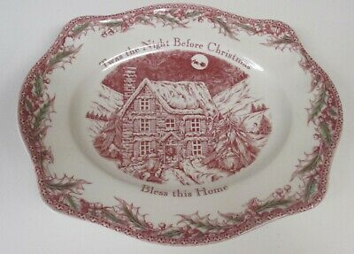 Johnson Brothers Twas the night before Christmas Oval Bread Tray Platter NWT
