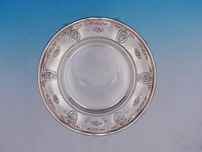 Rose Point By Wallace Sterling Silver Wavy Edge Dessert Plate #4600-9 (#4159)