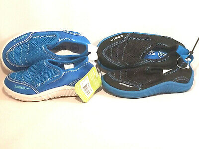 Speedo Toddler water shoes beach new black Blue lot two pairs boys girls 5/6 5 6