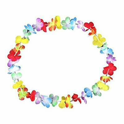 S/O, lotto di 100 collane a fiori colorati, collana Hawaii (0278)