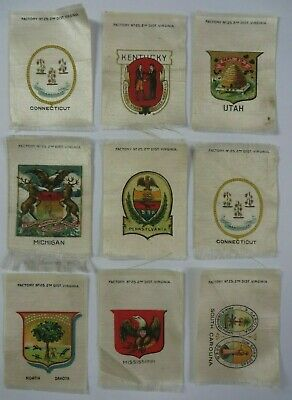 Vintage Early 1900's Factory No. 25 Cigarette Tobacco Silks UNITED STATES Lot