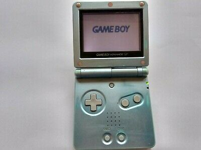 Nintendo Game Boy Advance SP AGS-001 Handheld Console - Pearl Blue - FREE P&P