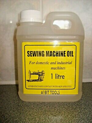 Sewing machine oil 1itre, industrial and domestic in plastic container