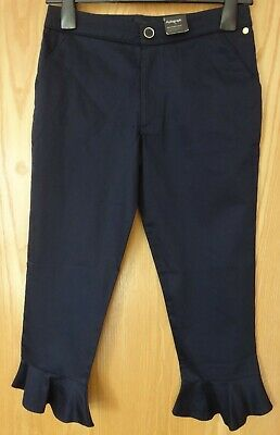 M & S Dark Navy Autograph Trousers With Adjustable Waist BNWT Age 11-12 Years