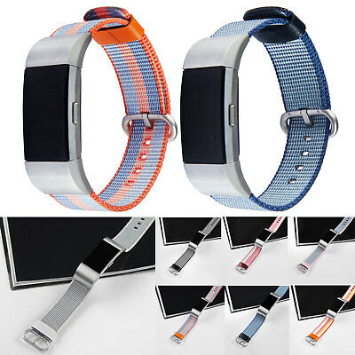 New Woven Fabric Watch Strap Replacement Wrist Band Bracelet For Fitbit Charge 2