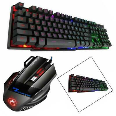 Gaming Keyboard And Mouse Set Anti-slip Wheel USB For PS4 Xbox One And 360 AU