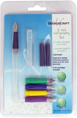 Manuscript Creative Calligraphy Pen Set - 5 Nibs