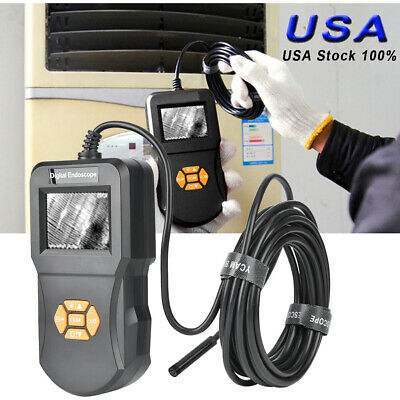 """3m Pipe 2.4"""" LCD Inspection Camera Endoscope Industrial Video Waterproof"""