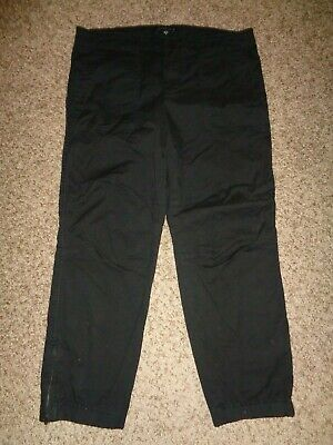 Sanctuary Women's Ankle Pants, Sz 31, Mid Rise, Black w/ Zippered Ankles 11996