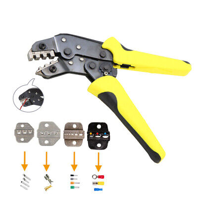 PRO Ratchet Crimper Plier Crimping Tool Cable Wire Electrical Terminals Set
