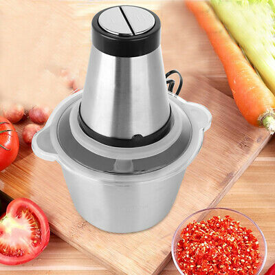 Electric Food Chopper Meat Grinder 500W/2L Kitchen Stainless Steel Meat Grinder