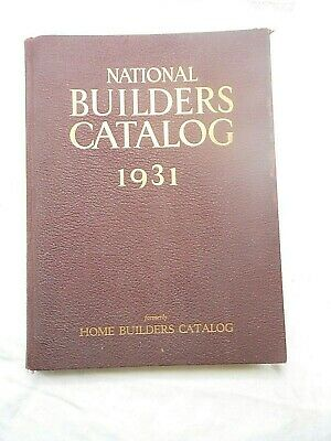 National Builders Catalog 1931 issue