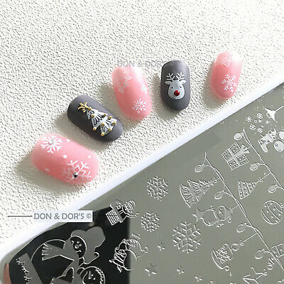 New Year Christmas Xmas Geometry Stamping Plates Stamp Template Nail Art Design