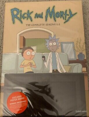Rick and Morty: The Complete Seasons 1-3 (DVD, Brand New, Free USPS Shipping)