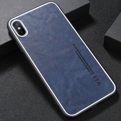 Luxury Leather Shockproof Ultra Slim Thin Hard PC Case Cover For iPhone Xs Xr 8