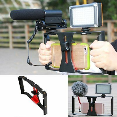 """Video Camera Cage Stabilizer Film Making Rig for iPhone Samsung 4~7"""" Smart JX"""