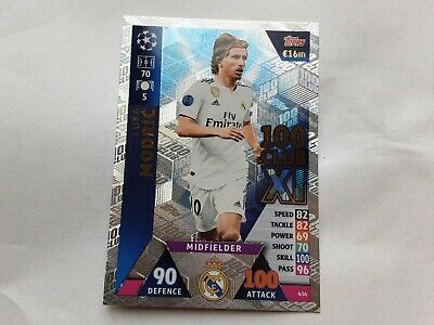 2018-19 Topps UEFA Champions League Match Attax Luka Modric 100 Club XI Official