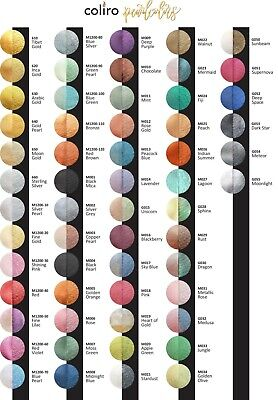 Finetec Coliro Mica Watercolour Pans For Calligraphy - Set Of All 62 Colours