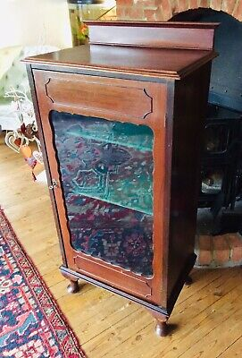 Glazed Display Cabinet Victorian 20th C Cupboard CHECK DESCRIPTION FOR DELIVERY