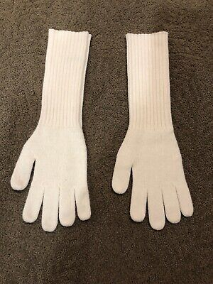 NWOT J.Crew Womens Cream/ivory Cashmere Blend Gloves One Size.  MG