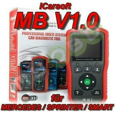 iCarsoft MB v1.0 Profi Diagnosegerät für Smart Sprinter Mercedes OBD Diagnose