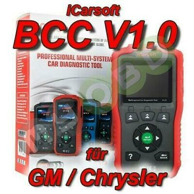 iCarsoft BCC v1 Profi Diagnosegerät für GM Chrysler OBD Diagnose ABS Airbag uvm.