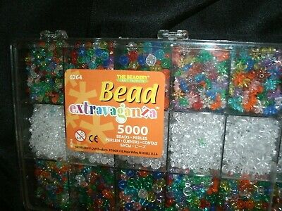 New!! Bead Extravaganza 5000 Pc Craft Kit By The Beadery