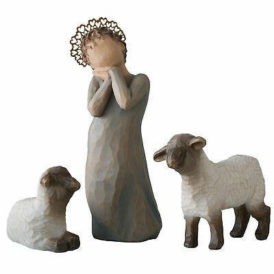 Willow Tree Figurine Little Shepherdess Girl & Lamb Ornament Boxed Easter Gift
