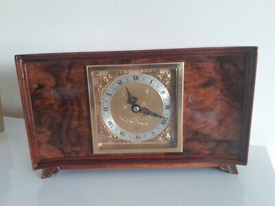 Quality Renowned  Elliott Of London Art Deco Style 8 Day Mantle Clock Mantle.