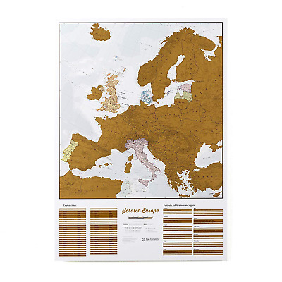 Maps International - Scratch Off Europe Edition map poster – Most Detailed - 59