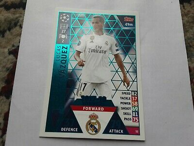 2018-19 Topps UEFA Champions League Match Attax #52 Lucas Vazquez 17-18 Real Mad