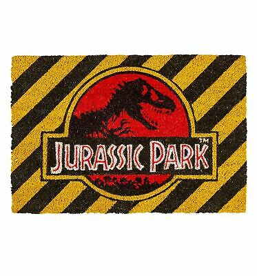 Jurassic Park Warning Doormat | Official Movie Merchandise | Home Accessories