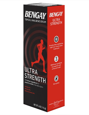 Ultra Strength Bengay Pain Relief Cream, 4 OZ UK Seller