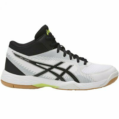 Mens Asics Gel Task MT B303N 0104 White Black Lime Lace Up Hi Top Trainers