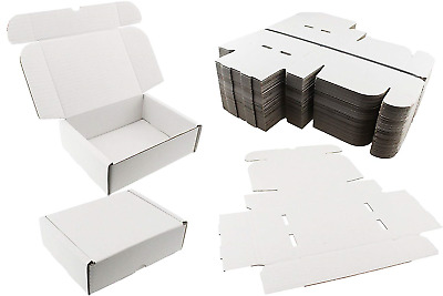 10 x WHITE SHIPPING BOXES POSTAL MAILING GIFT WEDDING PACKET SMALL PARCEL ☆ 20cm