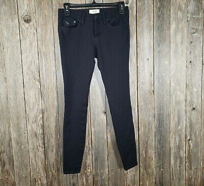Abercrombie & Fitch Women's Black Gray Perfect Stretch Skinny Jeans Pants Size 2