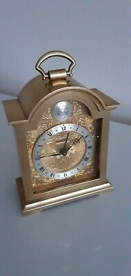 Swiss Swiza 8 Day Miniature Quality Brass Carriage Clock.good Working Order.