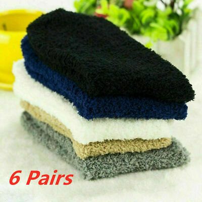 6 Pairs Mens Cosy Soft Bed Socks Fluffy Home Sock Thick Indoor Winter Warm Sock