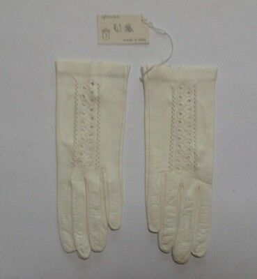 Vintage Ladies Leather Gloves Size 7 made in Italy - FREE P&P!