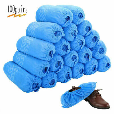100 Pairs Anti-Slip Shoe Covers Home Repeatable Wear Resistant Dust-proof