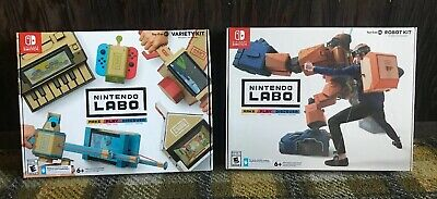 Labo Toy-Con 01 Variety Kit And 02 Robo Kit (Nintendo Switch, 2018) Lot
